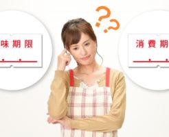 賞味期限と消費期限の違い